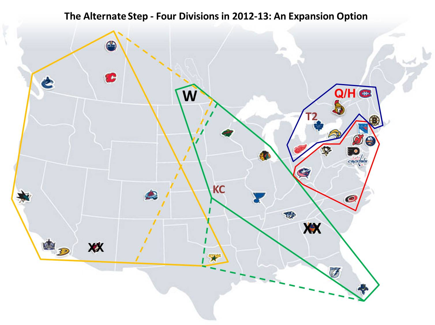 for a while now there has been talk off and on about expanding the nhl for this to be accomplished two additional teams provides a more symmetrical